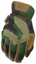 Перчатки Mechanix Tactical FastFit Woodland Camo